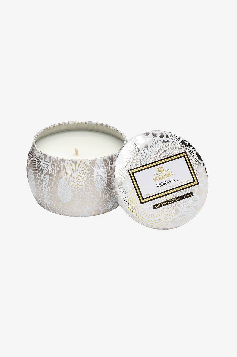 Mokara - Decorative Tin Candle 25h