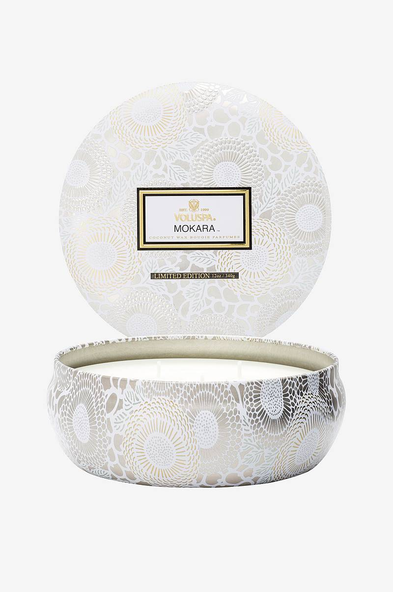 Mokara - 3 Wick Candle in Decorative Tin 40h