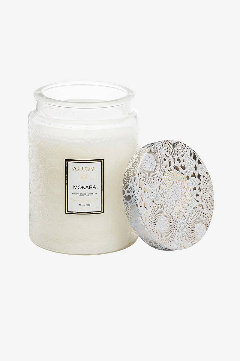 Mokara - Large Glass Jar Candle 100h