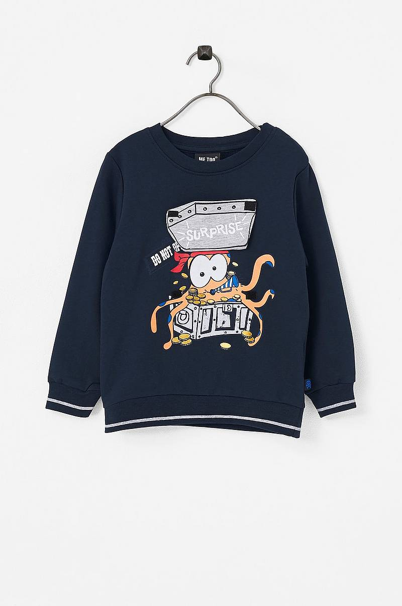 Sweatshirt med applikation foran