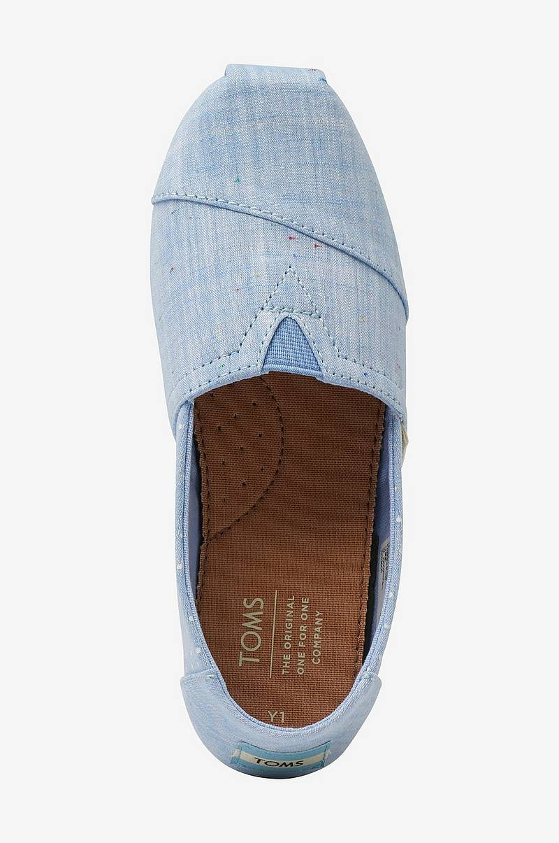 Espadrillos Light Bliss Blue Speckled Chambray Dots