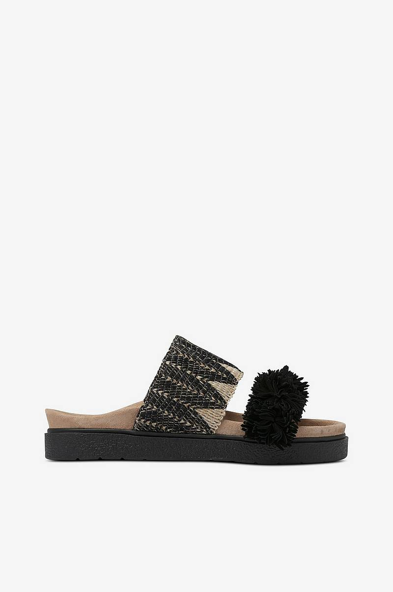 Slippers Raffia Fringes
