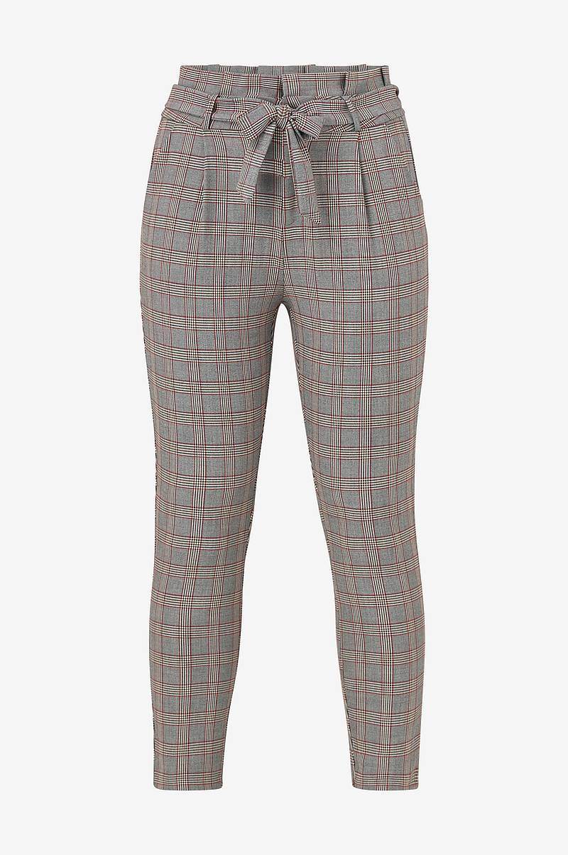 VmEva HR Loose Paperbag Check Pant housut