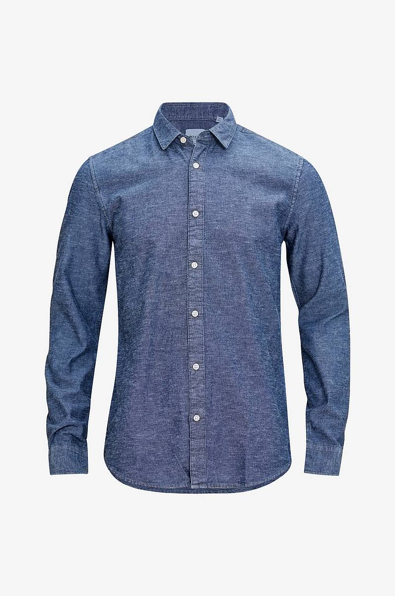 Skjorte onsTed LS Slub Chambray Shirt