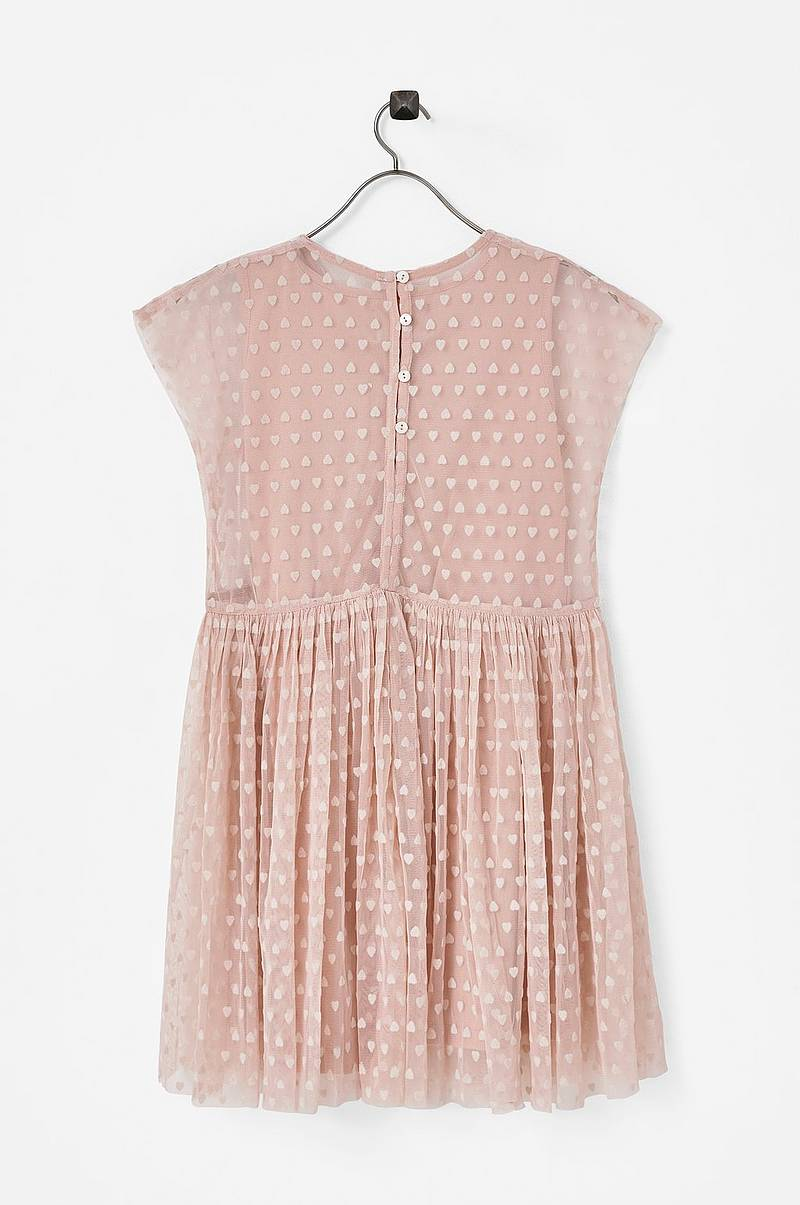 Kjole Mesh Flock Hearts Dress