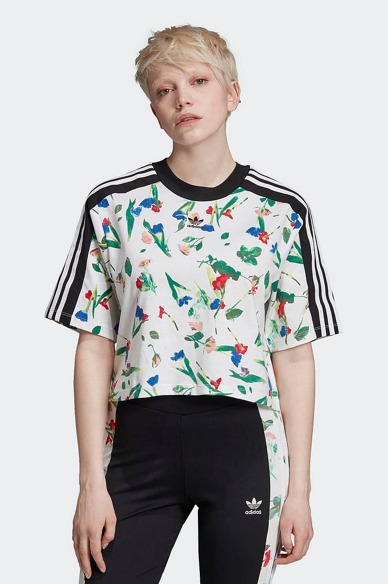 Cropped Allover Print Tee -pusero