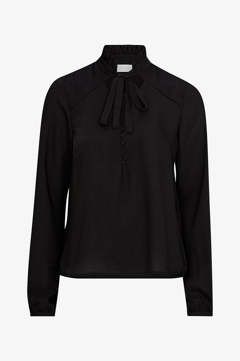 Blus viSiggy L/S Bow Top