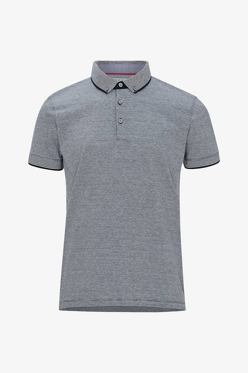 T-shirt med button down-krage