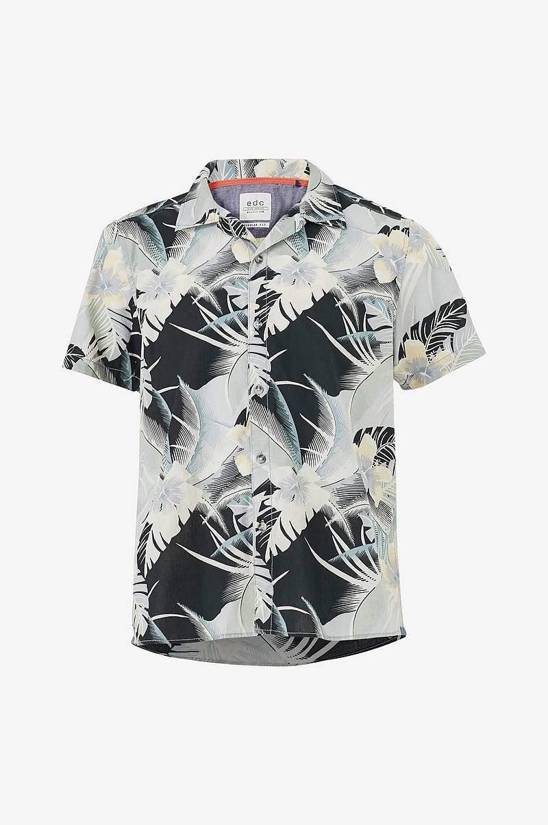 2e7f613b4d73 Kortærmet skjorte med tropisk mønster