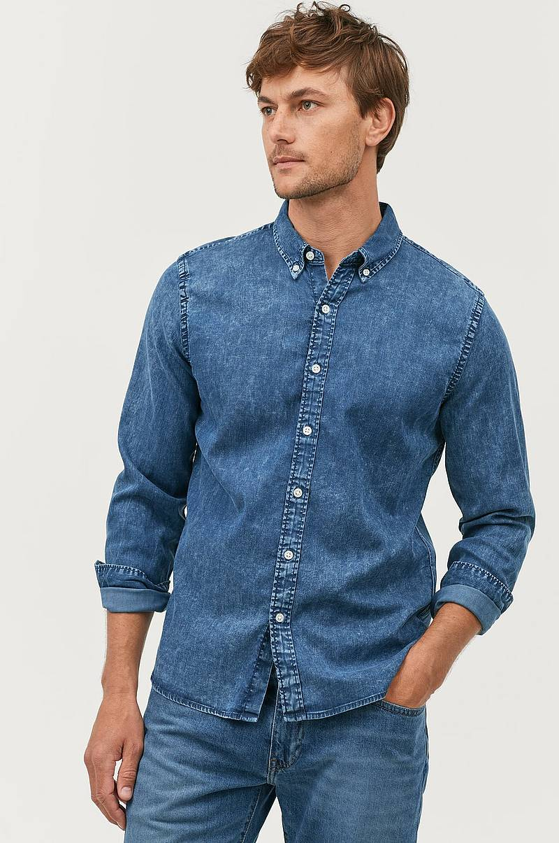 Jeansskjorte Long Sleeve Pacific Shirt