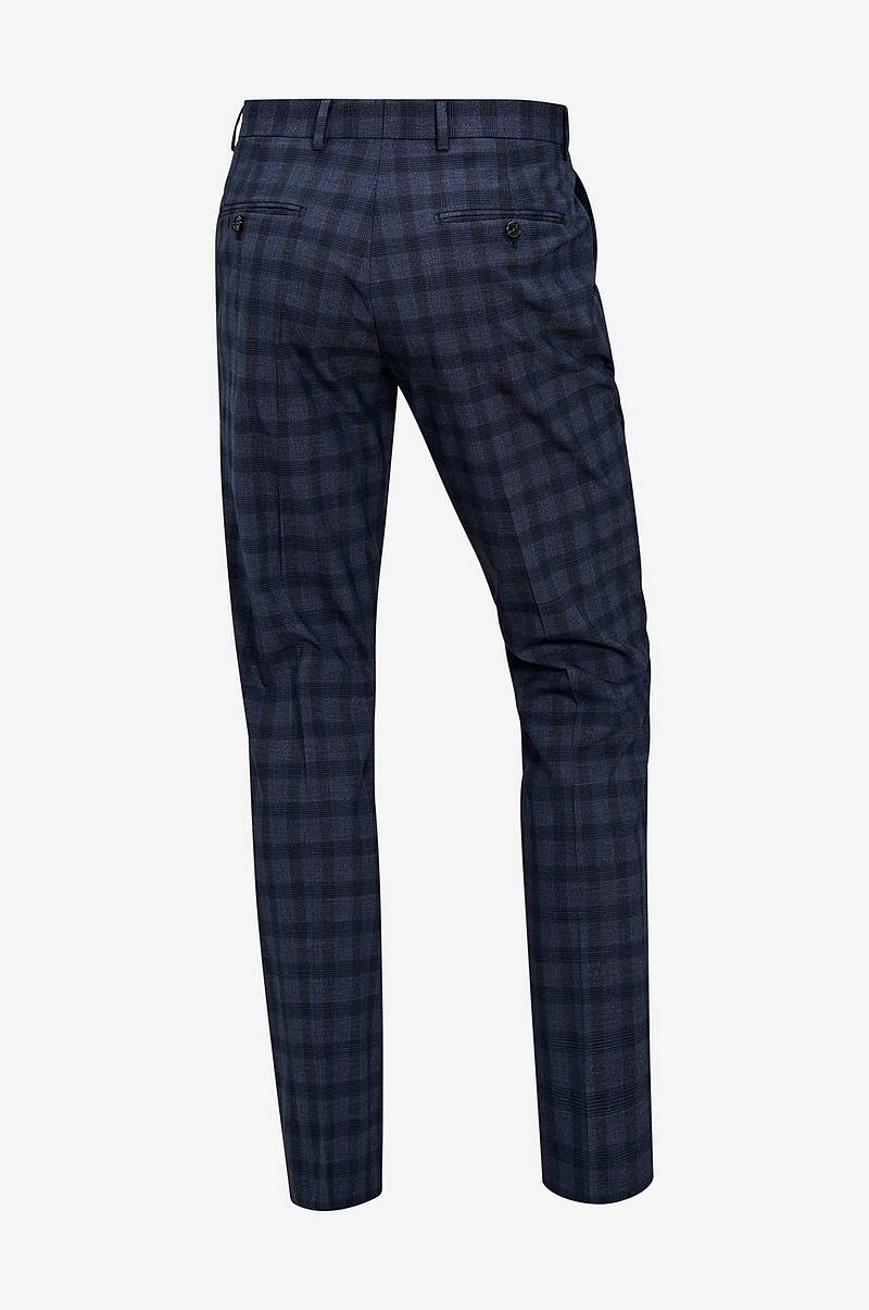 Housut slhSlim Mylologan Navy Check TRS B