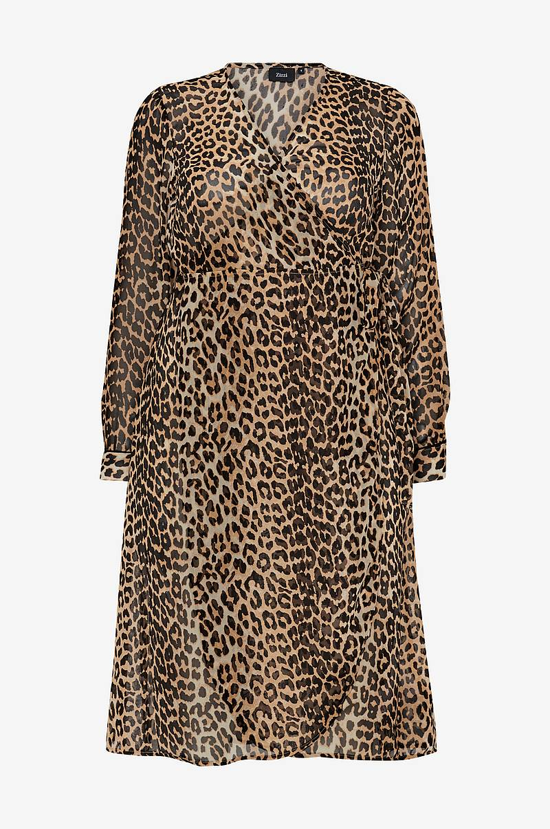 Slå om-kjole MLeofina L/S Maxi Dress