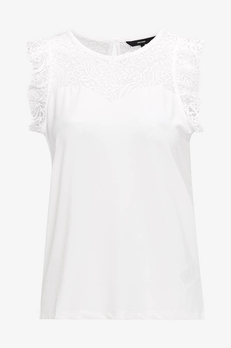 Topp vmAlberta Sweetheart Lace S/L Top