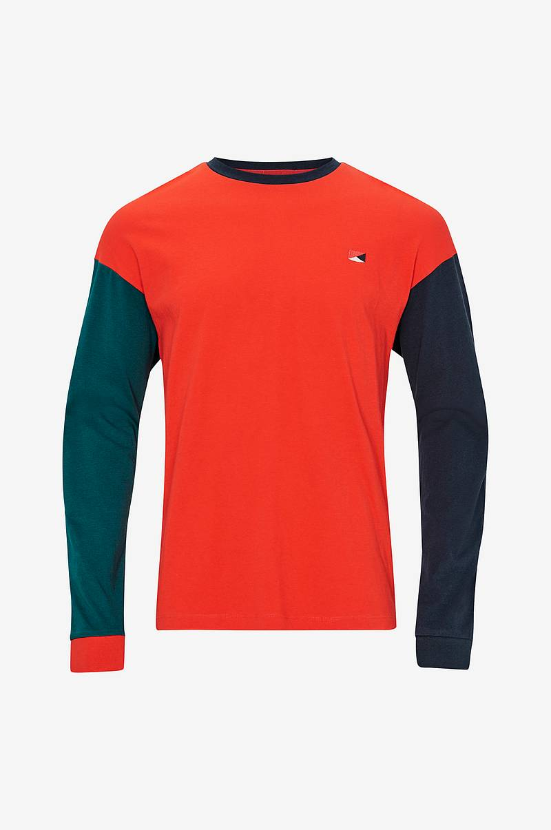 T-shirt jorColourblock Tee LS Crew Neck