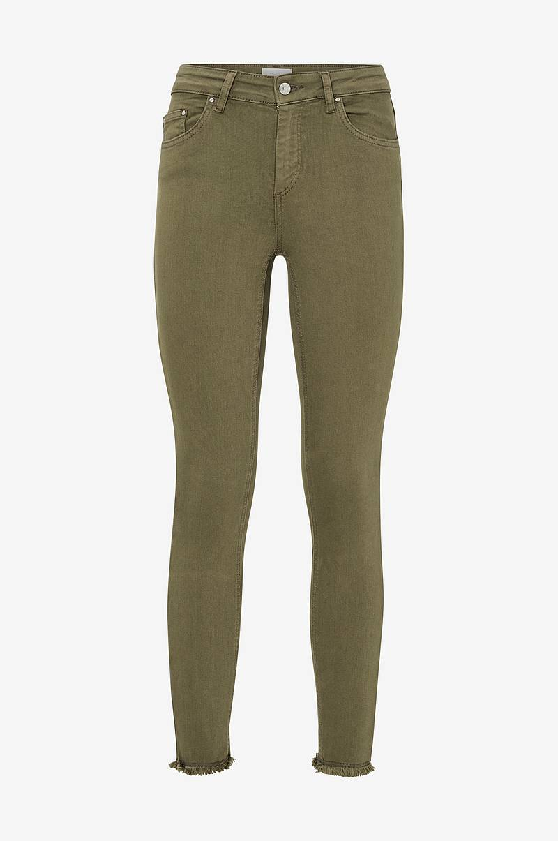 Housut onlBlush Mid Skinny Ankle Raw Colour