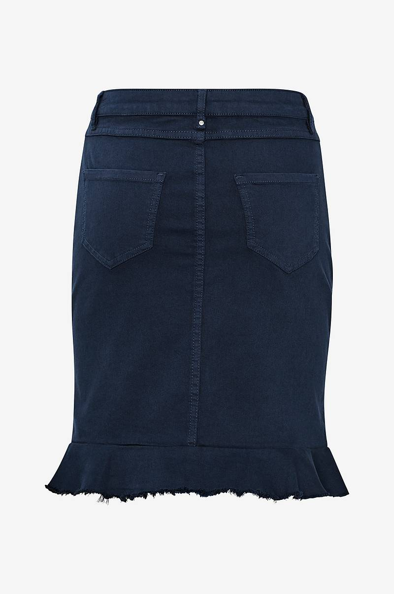 Denimnederdel viCommit Peplum Denim Skirt