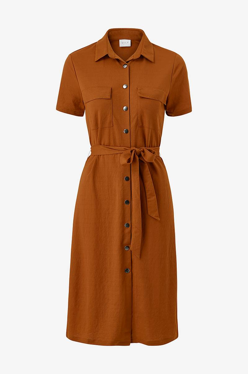 Skjortekjole viSafina S/S Shirt Dress