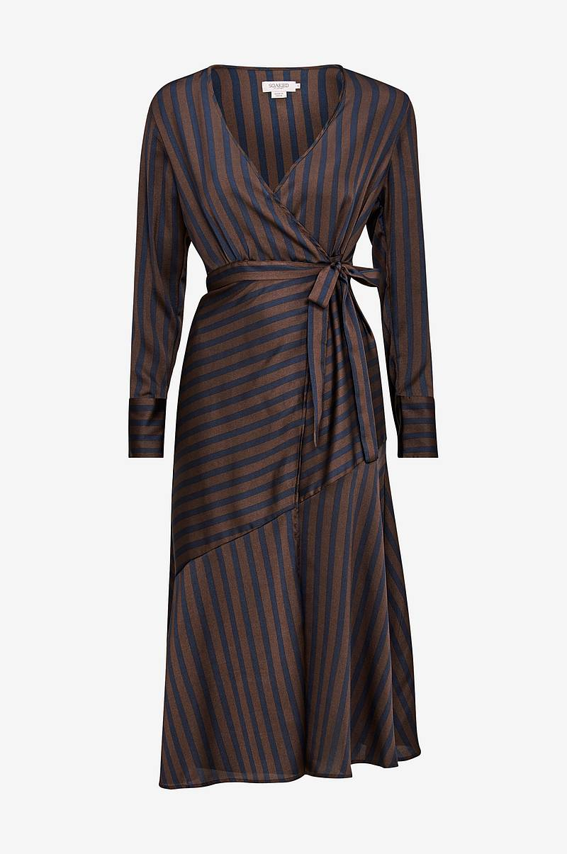6ab05356a28a Slå om-kjole Gina Striped Wrap Dress