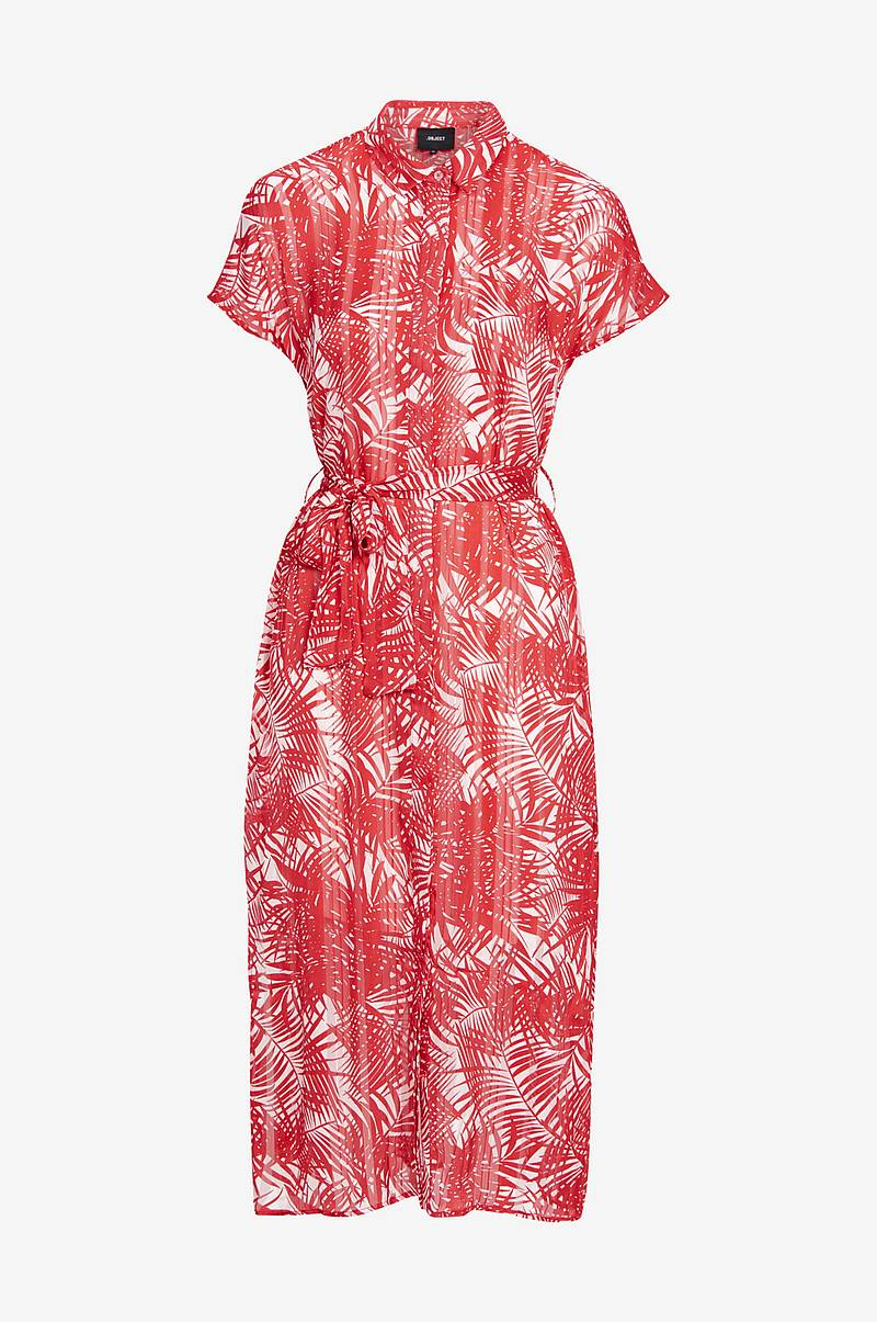 Mekko objPalm S/S Midi Dress