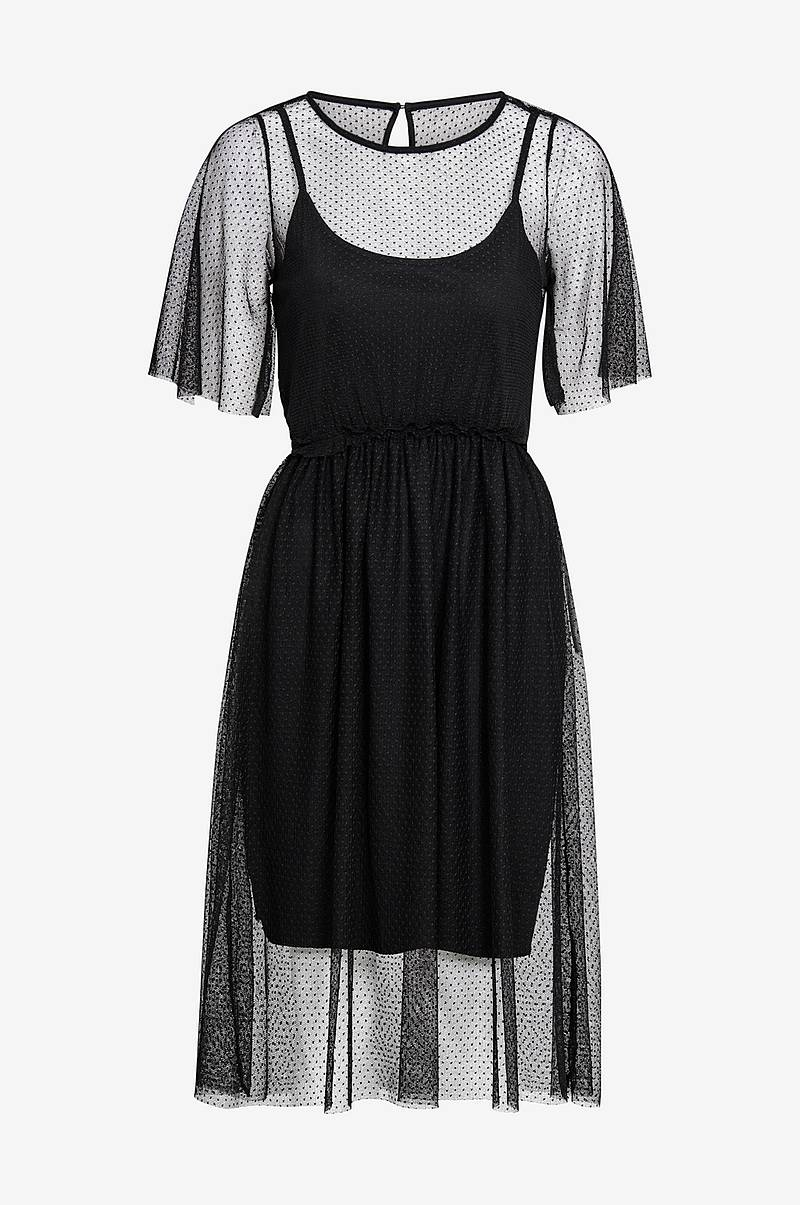 Mekko vmLinna 2/4 BLK Dress