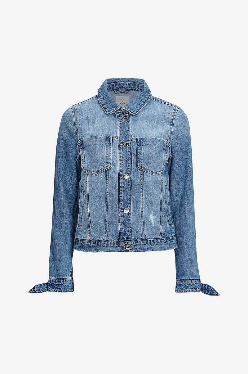 Denimjakke vmMikky Ls Loose Bow Cuff Denim Jacket