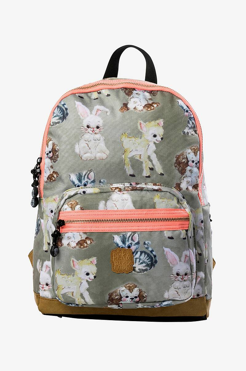 Backpack cute animals taupe
