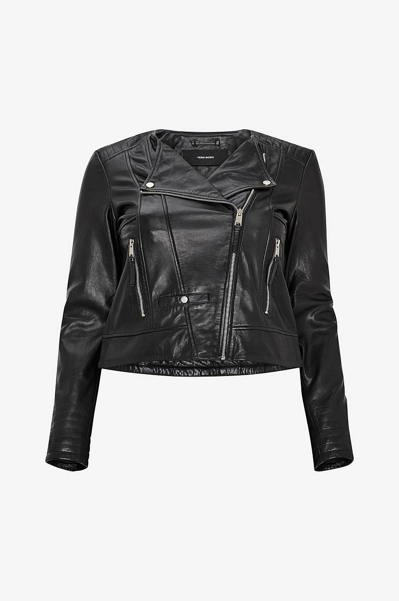 Biker-takki vmShila Short Leather Jacket Curve