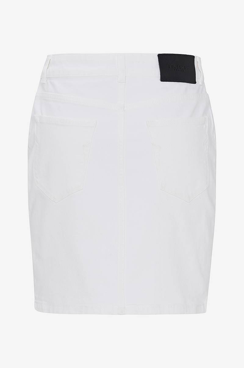 Farkkuhame slfMaya MW Denim Skirt White W
