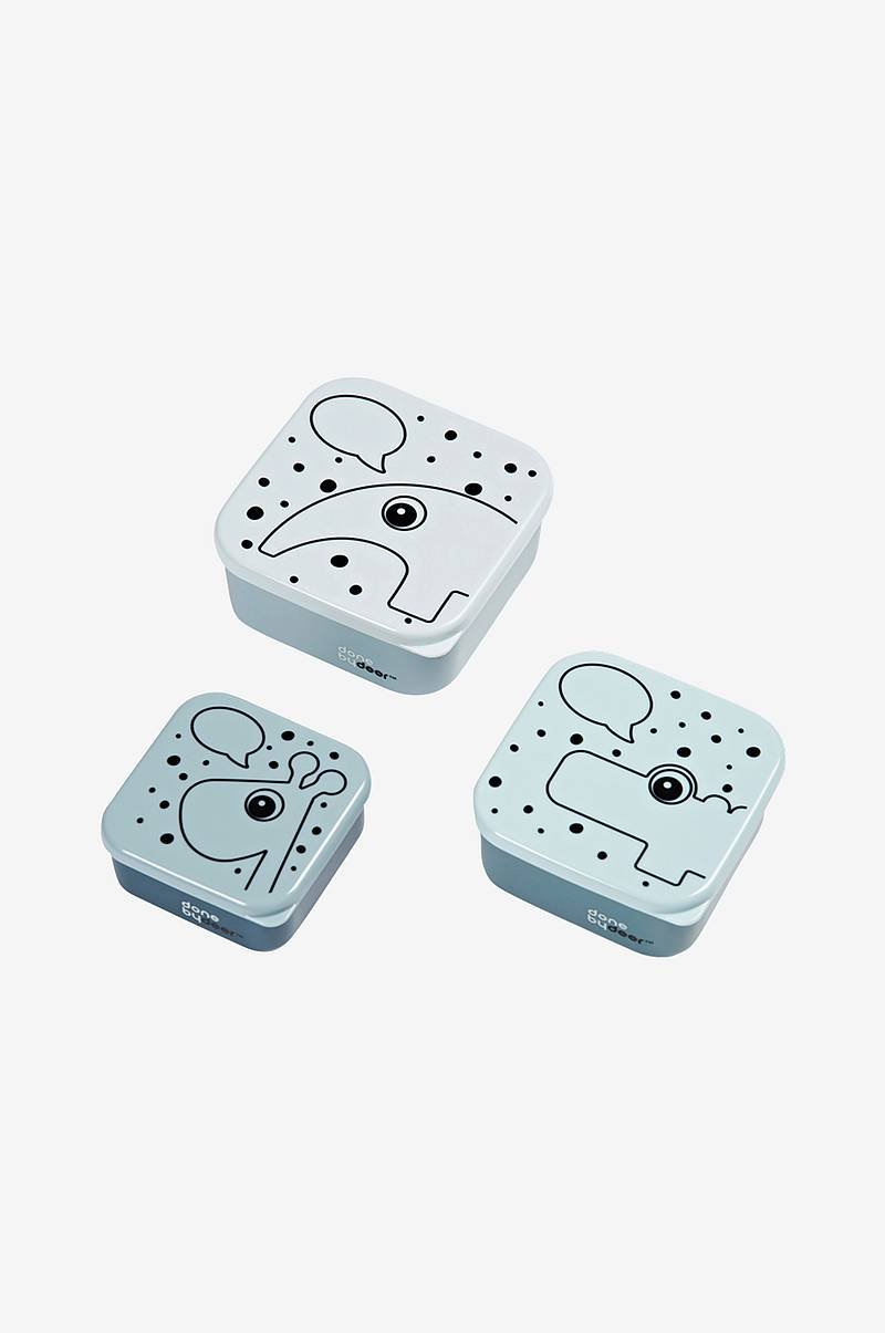 Snack Box 3 pcs Contour Blue