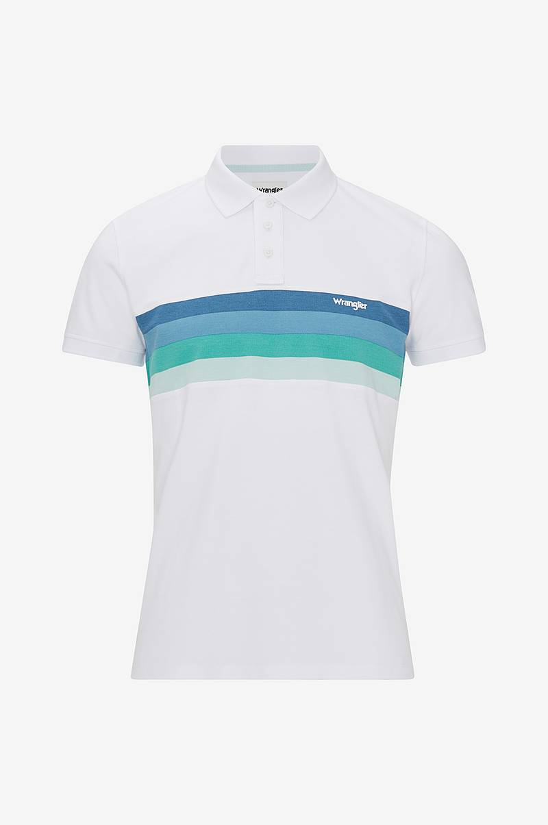 Poloshirt SS Stripe Polo White