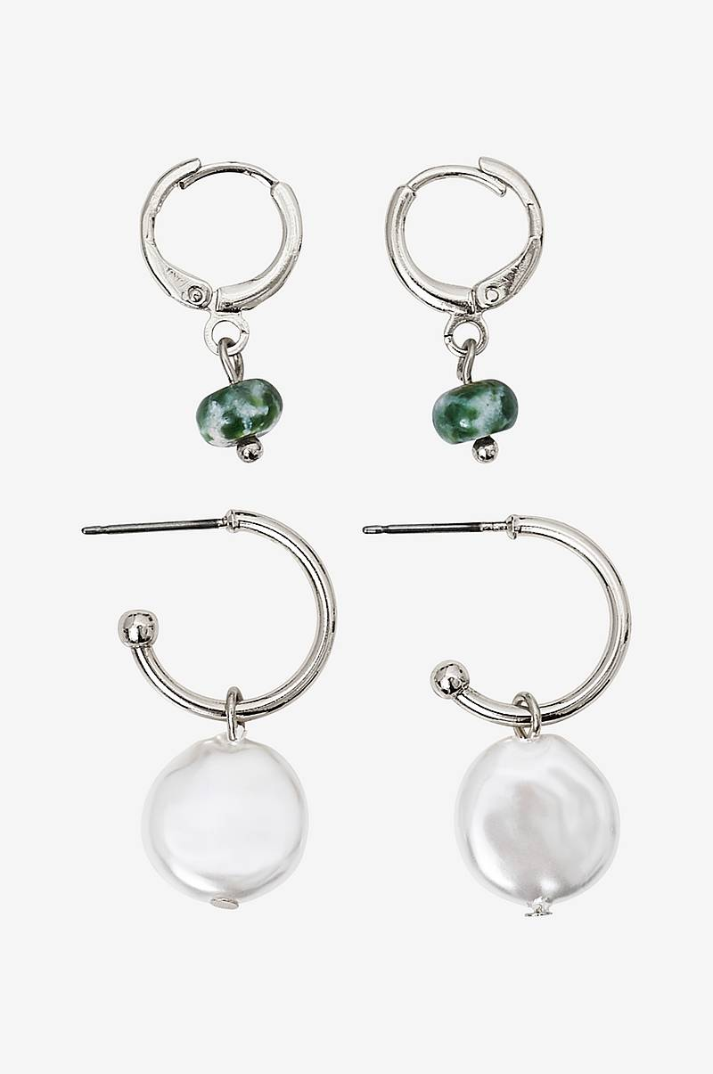 Øreringe pcAlice Hoop Earrings 2-pak D2D