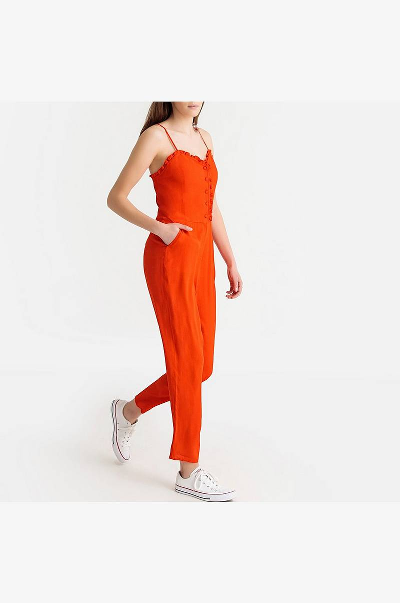 Jumpsuit med smalle skulderstropper