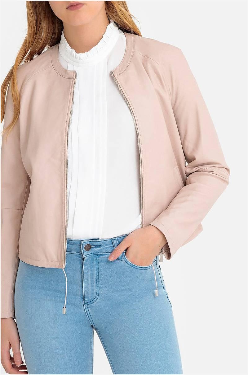 Cream Skinnjacka WallisCR Leather jacket Svart Vårjackor