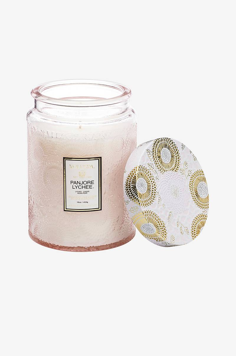 Panjore Lychee - Large Glass Jar Candle 100 tim 455g