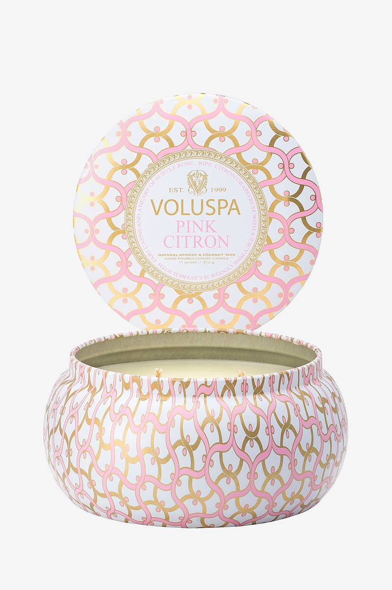 Pink Citron - 2 Wick Maison Metallo Candle 50 tim 312g