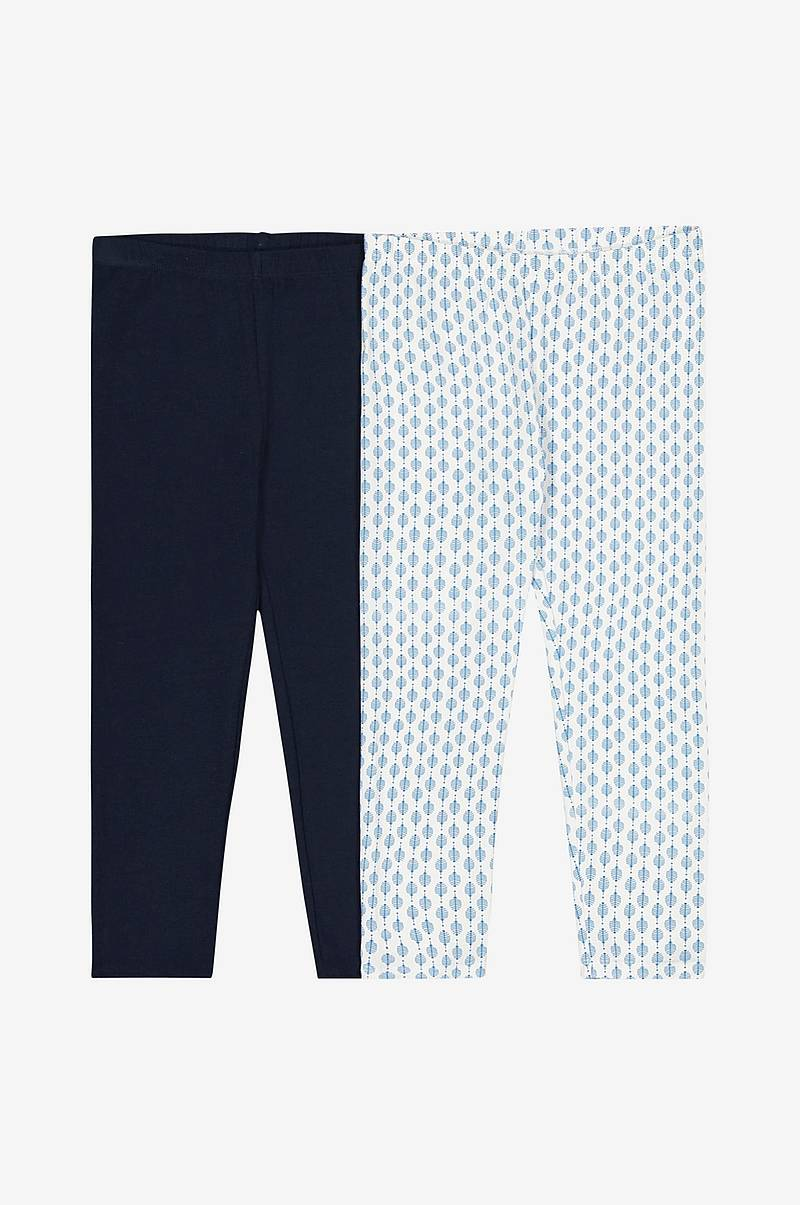 Mönstrade leggings, 2-pack