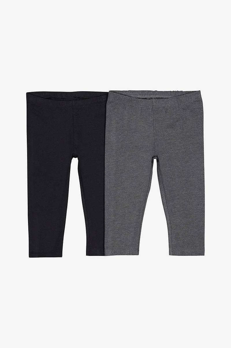Enfärgade leggings, 2-pack