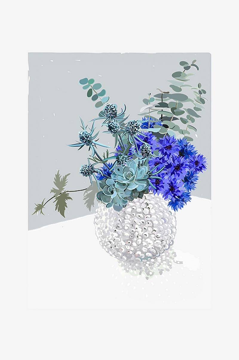Poster Blue Bouquet