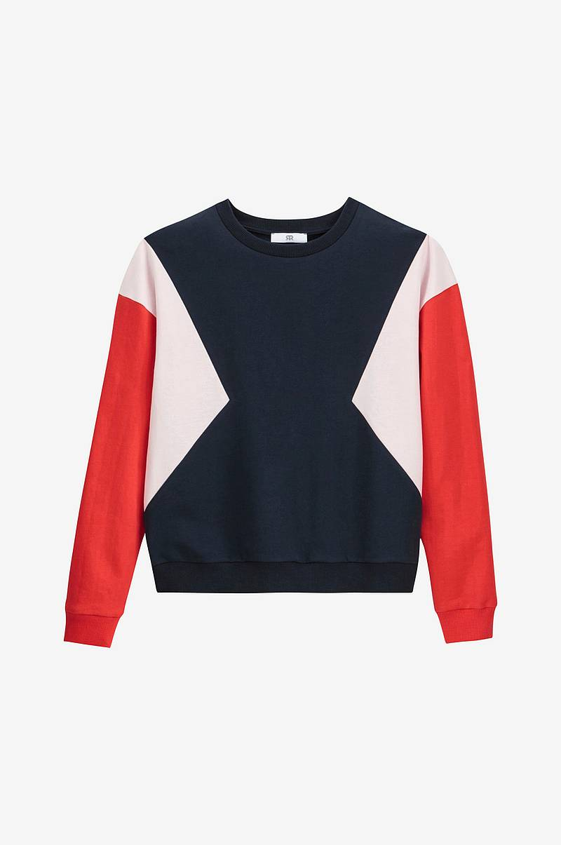 Sweatshirt med colorblock-effekt