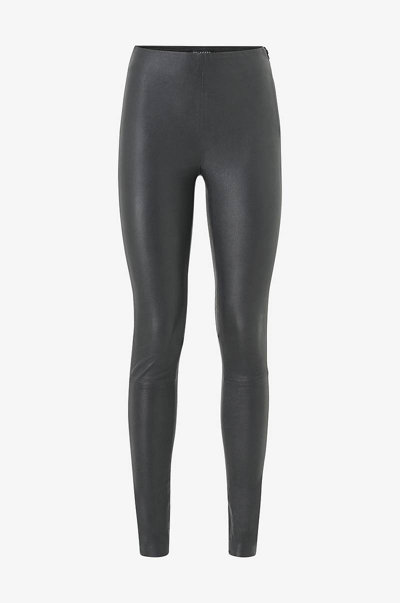 Nahkaleggingsit slfSylvia MW Stretch Leather Leggings