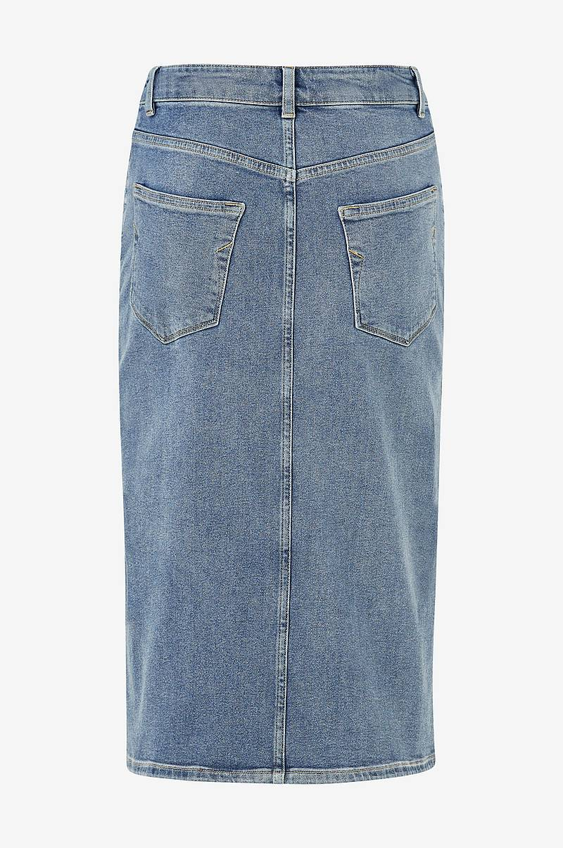 Farkkuhame slfLana HW Hush Blue Denim Skirt EX
