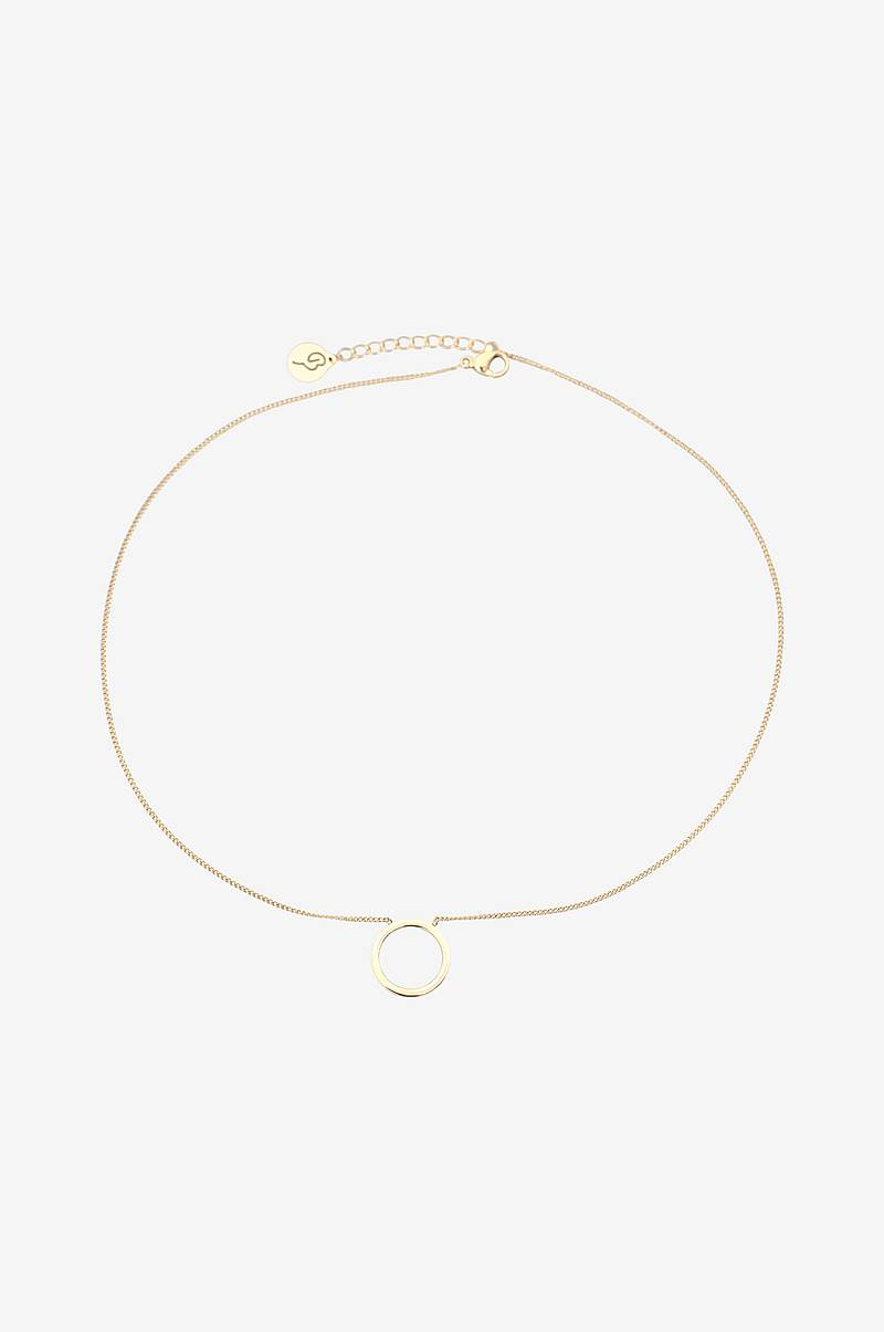 Halsband Circle Necklace Small Gold