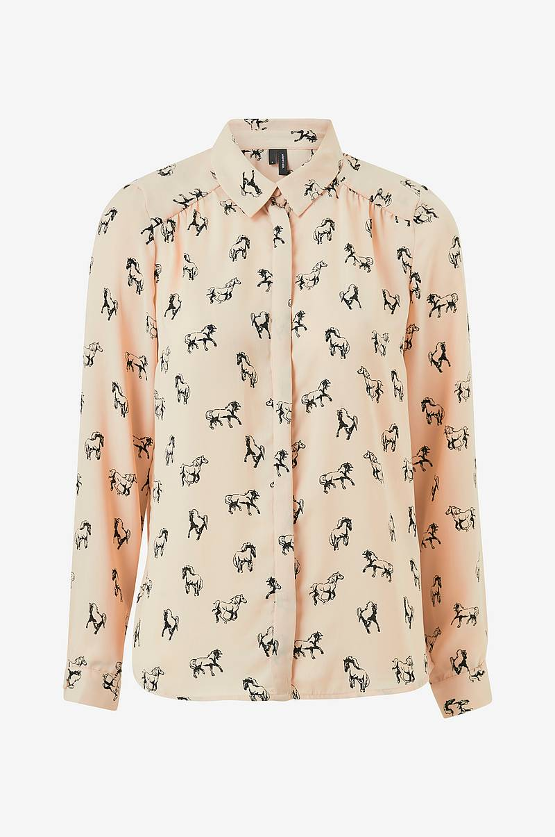 032c8767 Bluse vmLizzy Animal L/S Shirt