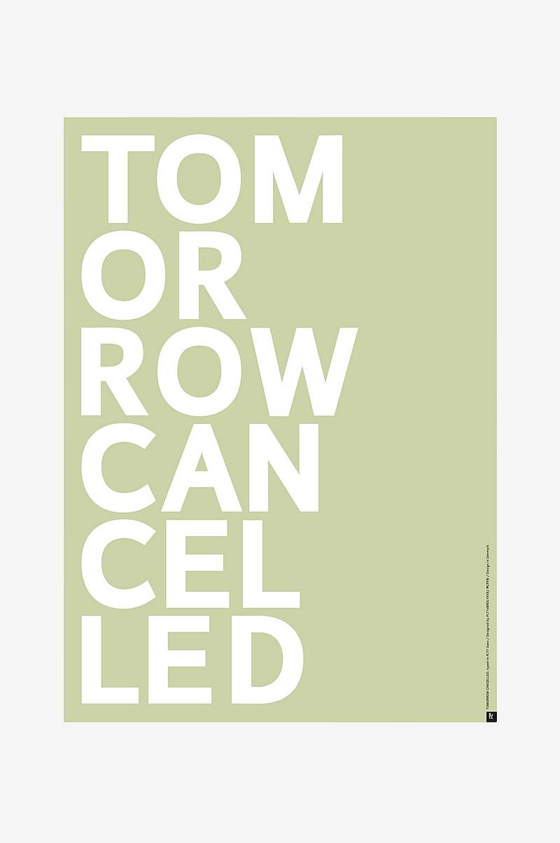 Poster Tomorrow Cancelled