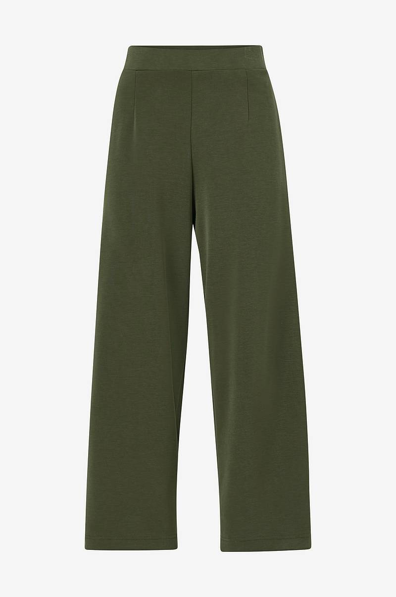Bukse slfTuija Tea MW Cropped Wide Pants