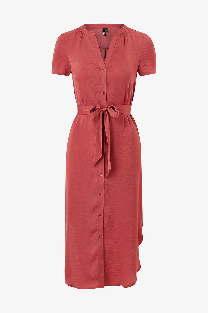 Klänning vmAlba S/S Belt Shirt Dress