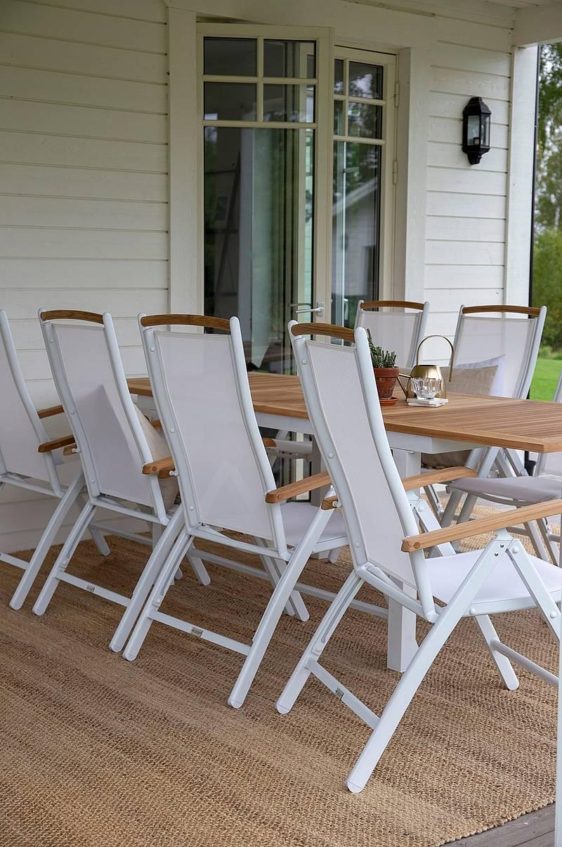 Ellos Home Spisegruppe Sunnanäng, 6 stoler og rundt bord