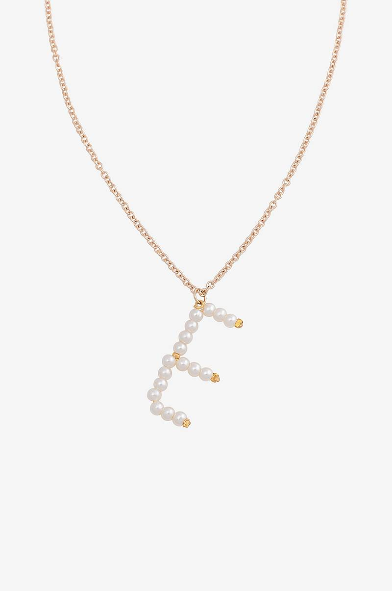 Halskjede vmPearl Letter Necklace