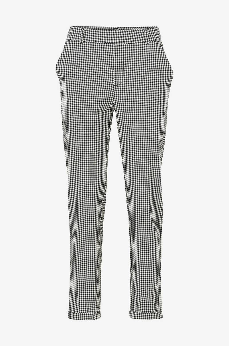 Housut vmMaya MR Loose BW Check Pant