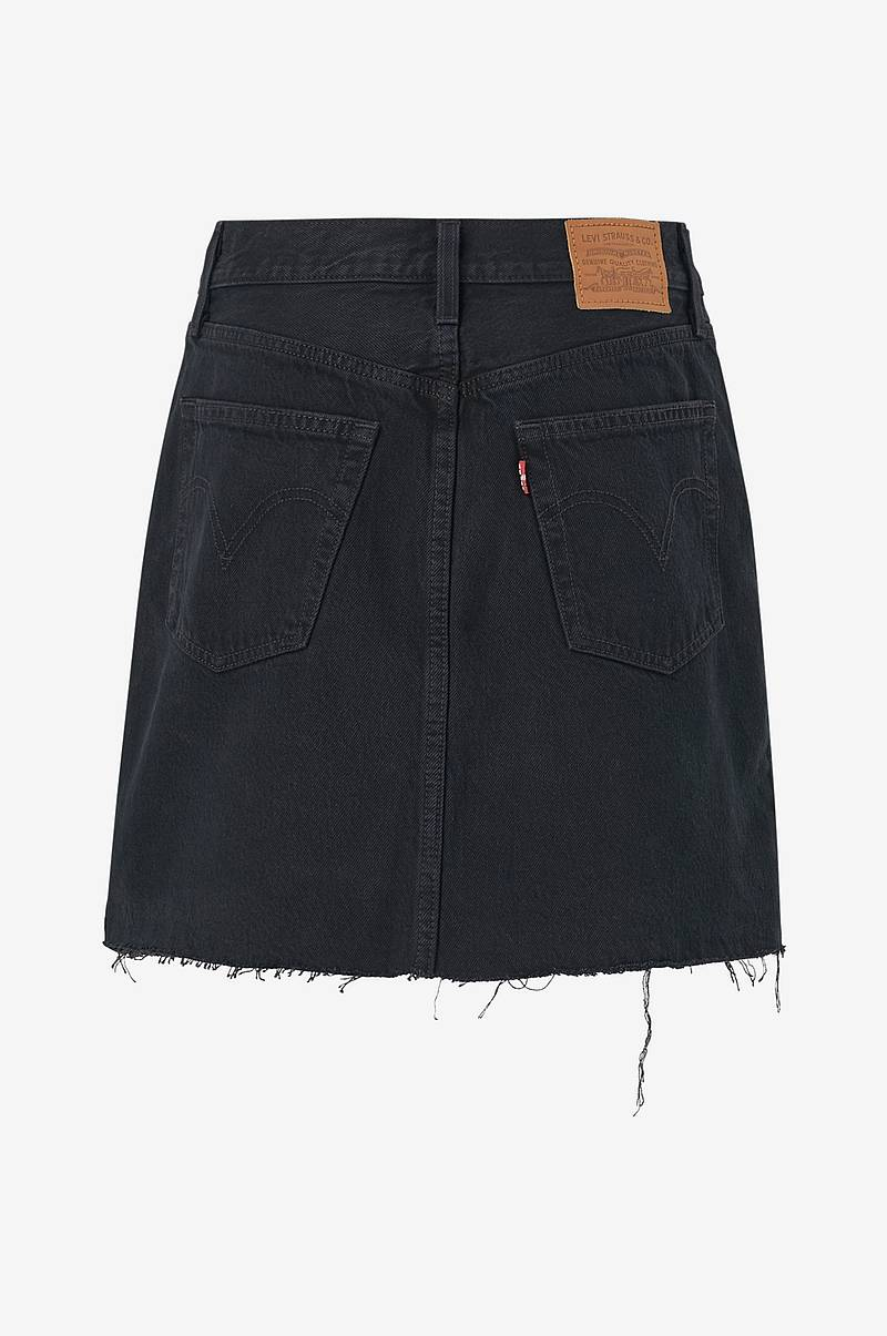 Jeansskjørt High-Rise Deconstructed Skirt